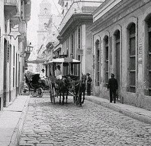 La Habana nocturna a finales del siglo 19