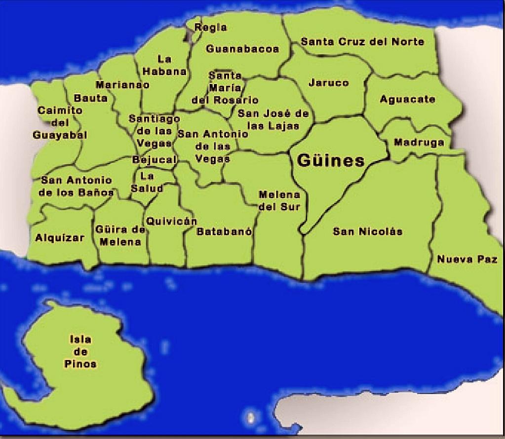 Habana Municipios en la Republica