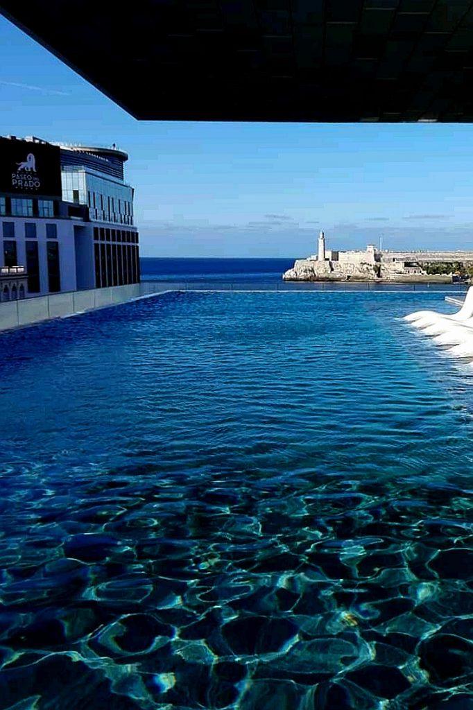 Hotel Packard vista al Morro de La Habana