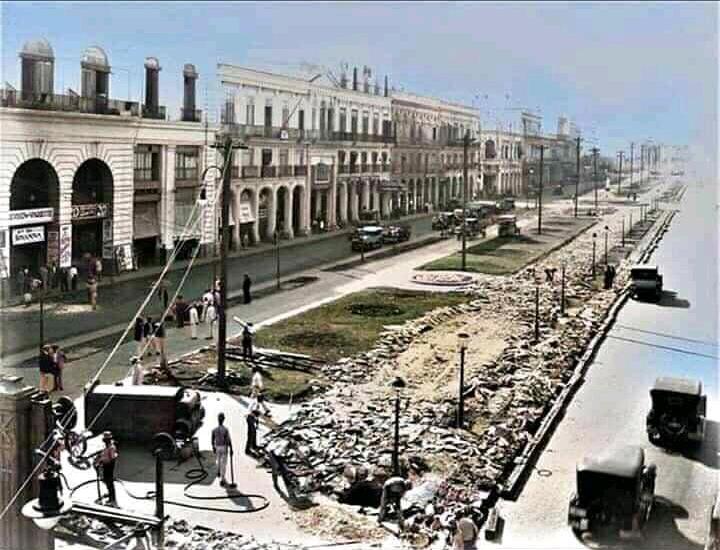 Reconstruccion del Paseo del Prado