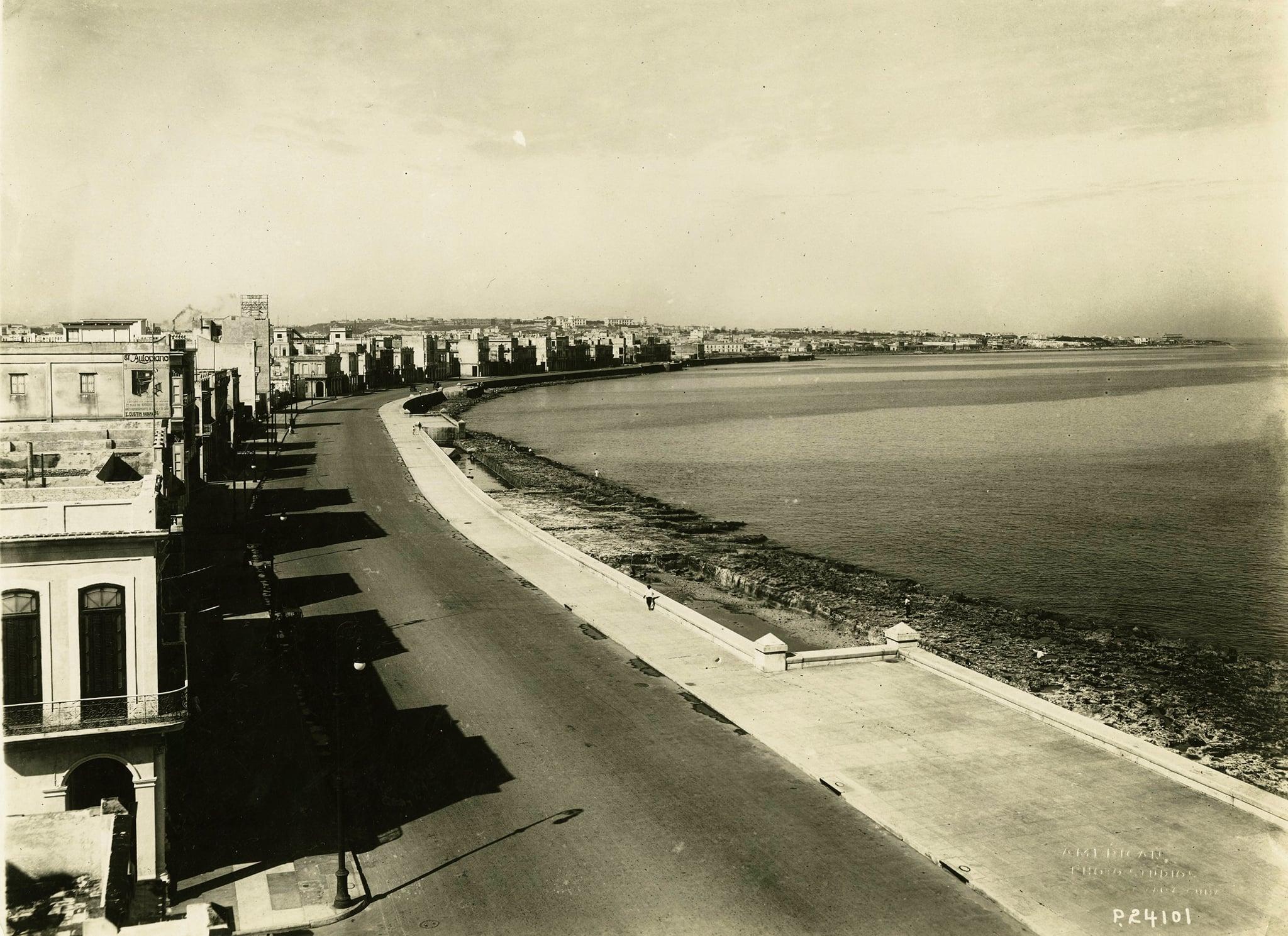 Malecón de La Habana en 1915