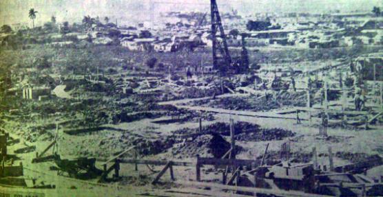 Construcción del Stadium del Cerro