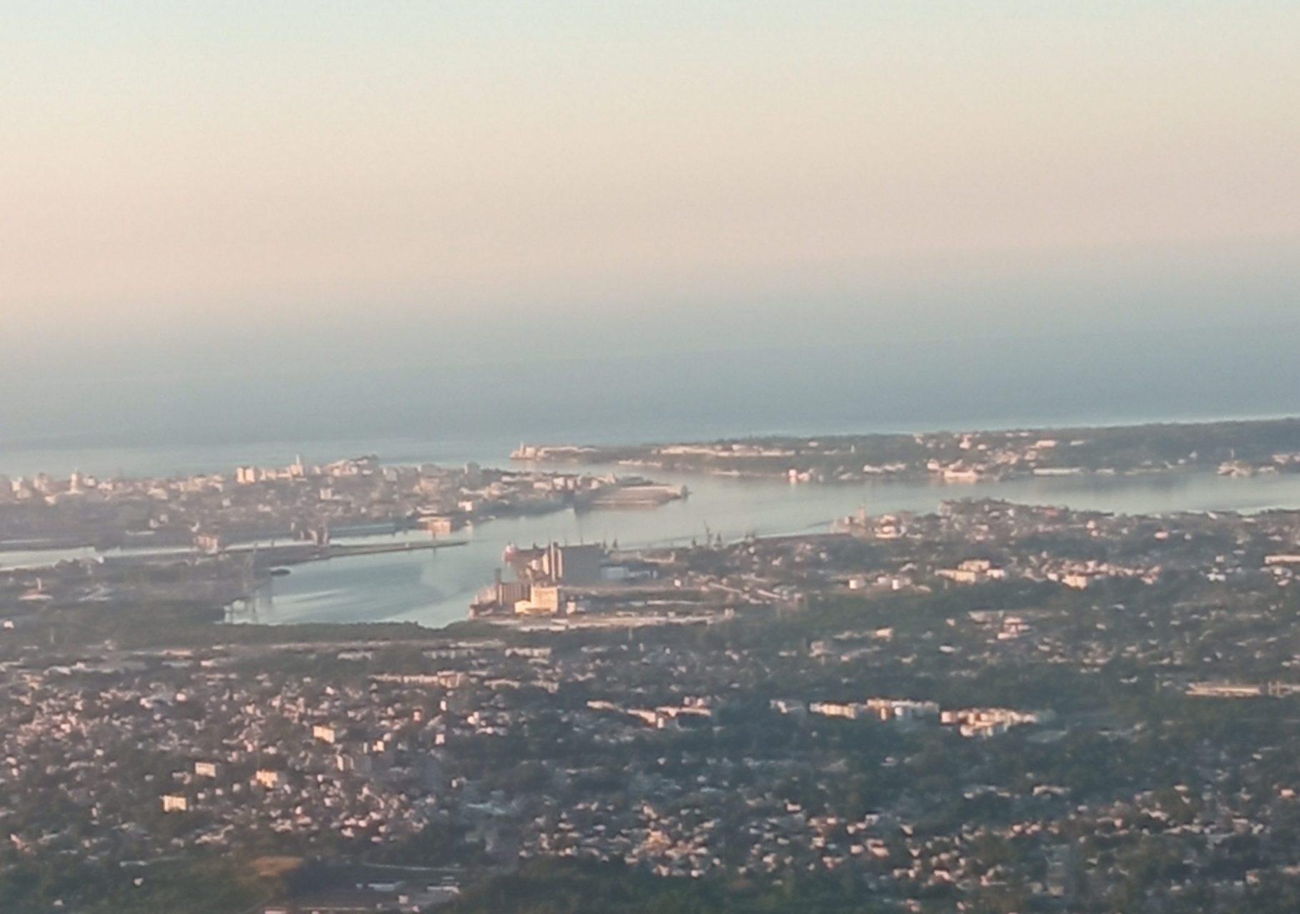 Vista aérea de la bahía de La Habana