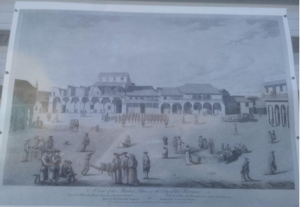 Casa de Marques de Jaruco grabado 1