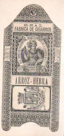 Cigarrillos El Siboney Arrroz Hebra 1