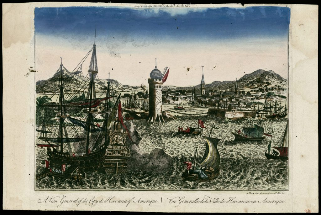 Bahía de La Habana siglo XVIII