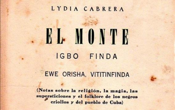 Portada de El Monte Lydia Cabrera( Changó-Santa Bárbara)