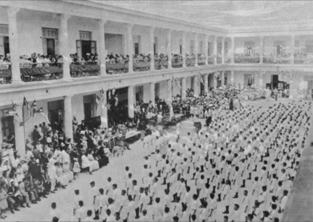 Jura de la Bandera en el Colegio Champagnat de los Hermanos Maristas