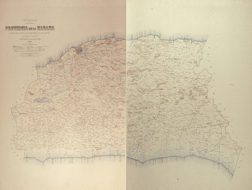 Esteban Pichardo y Tapia. Mapa de la provincia Habana 1896