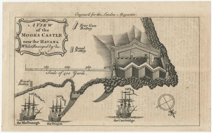 Mapa del Morro hecho por los ingleses 1762