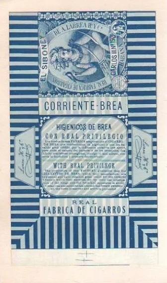 Marquilla de Cigarros El Siboney 1