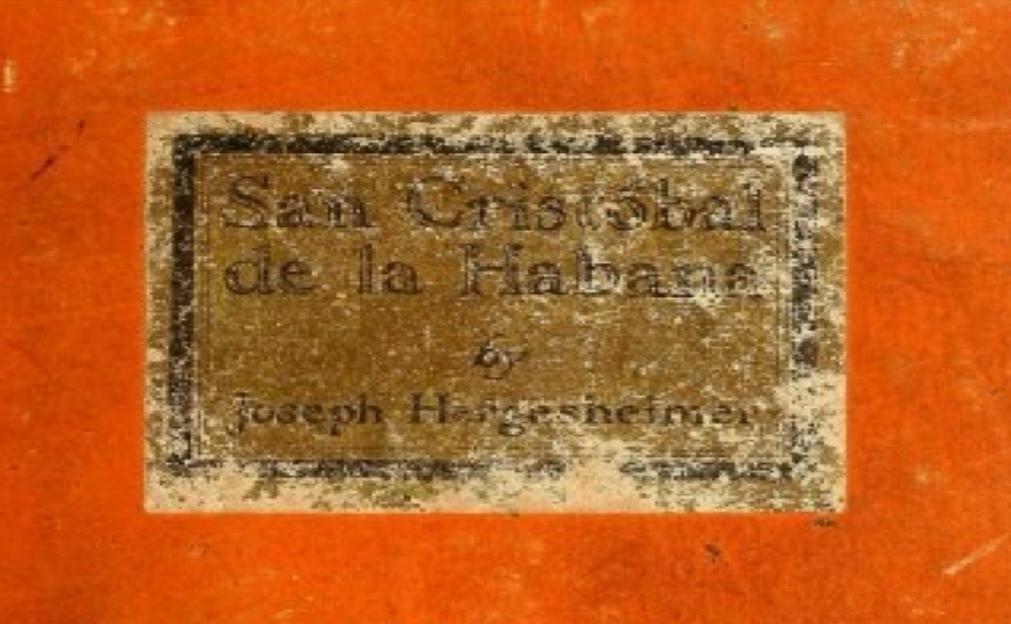 Imagen de portada del libro San Cristóbal de La Habana editado en 1920.