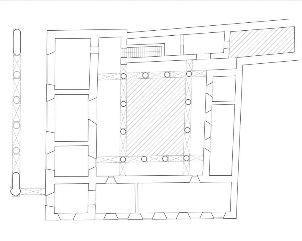 Plano del palacio de los condes de Jaruco