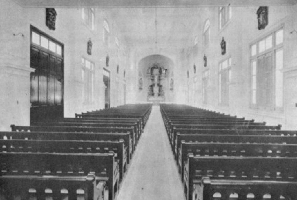 capilla del Colegio Champagnat Maristas