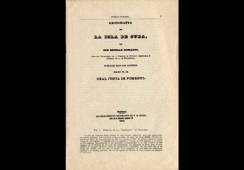 Esteban Pichardo y Tapia. geografía de la isla de cuba