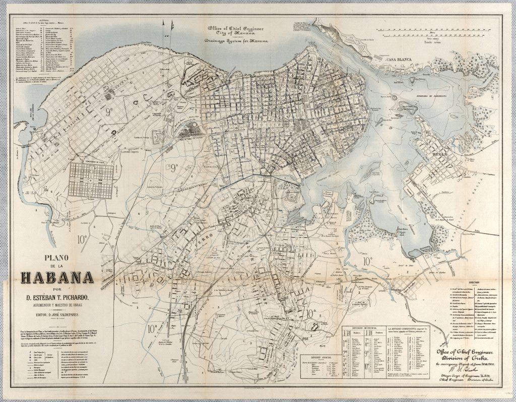 Esteban Pichardo y Tapia. Mapa de drenaje. 1900