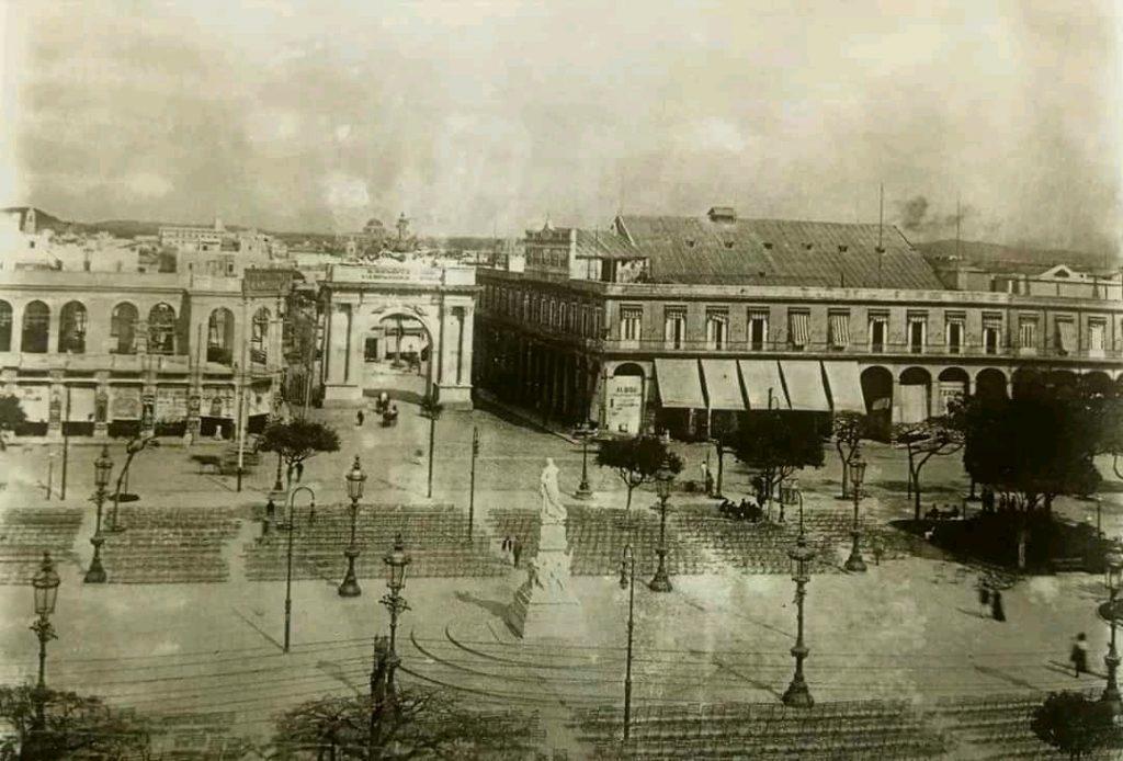 Parque Central en los primeros años de la República
