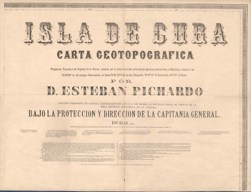 Esteban Pichardo y Tapia Carta Geotopografica