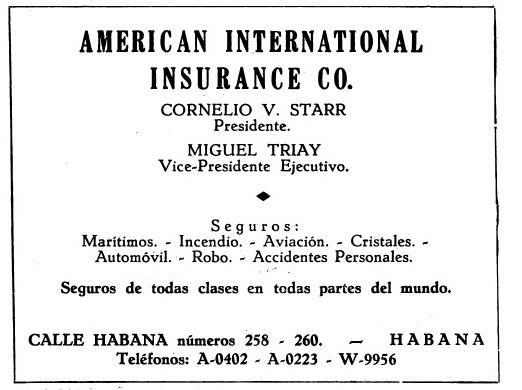 Américan Internacional Insurance CO - Compañías de Seguros en Cuba