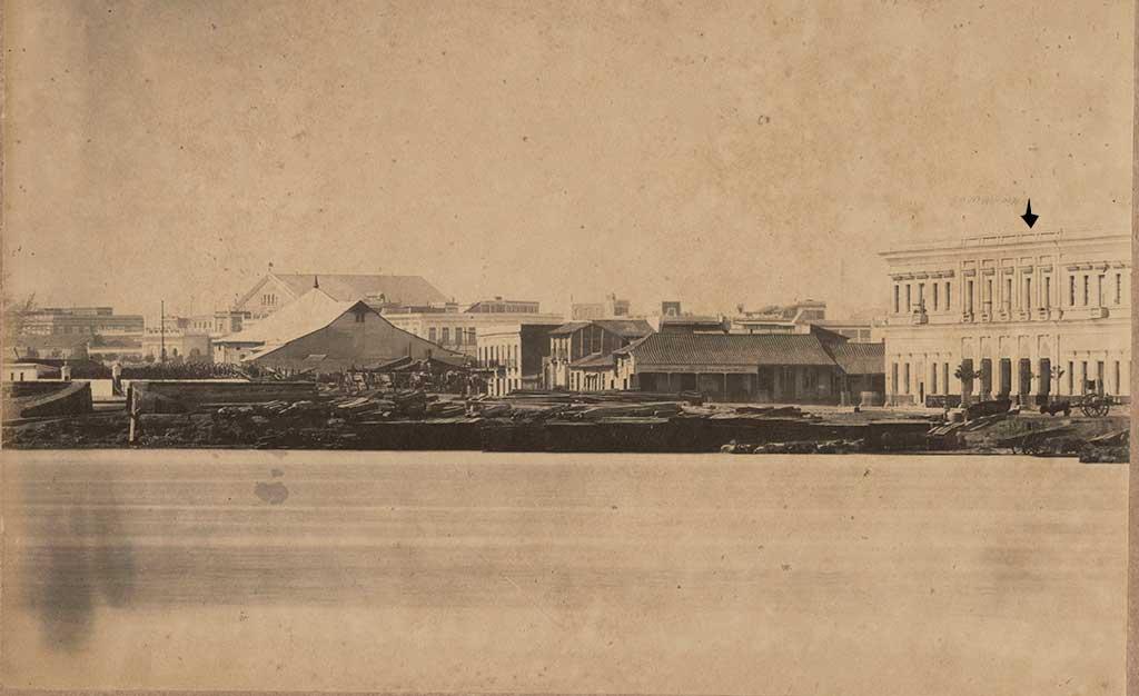 CArcel vista desde el mar 1860