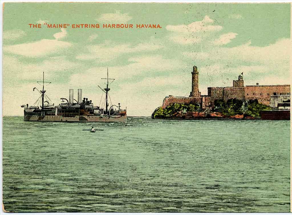 Entrada del U.S.S Maine a la Bahía de La Habana 1898