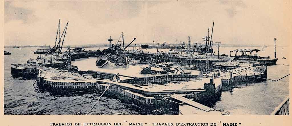 Extracción del U.S.S Maine en la Bahía de La Habana 1912