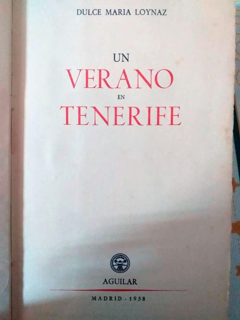 Un verano en Tenerife Dulce María Loynaz-autografiado