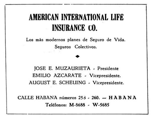 Compañías de Seguros - The Américan Life Internacional Insurance