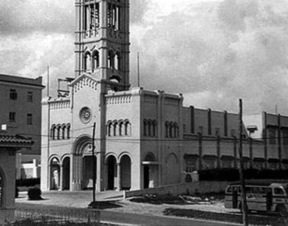 Iglesia de San Juan Bosco en sus primeros años