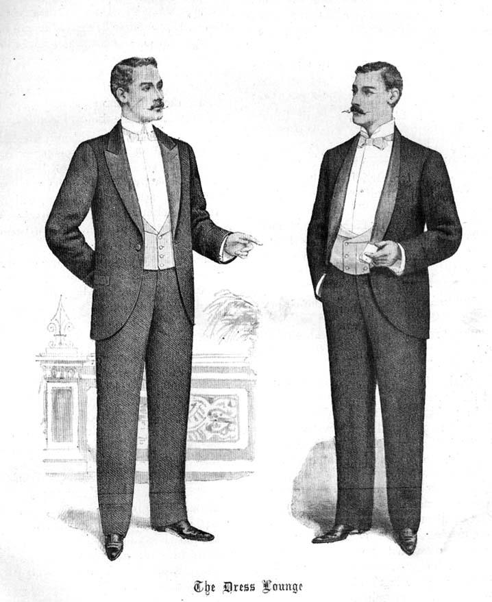 Ilustracion de Smoking 1898