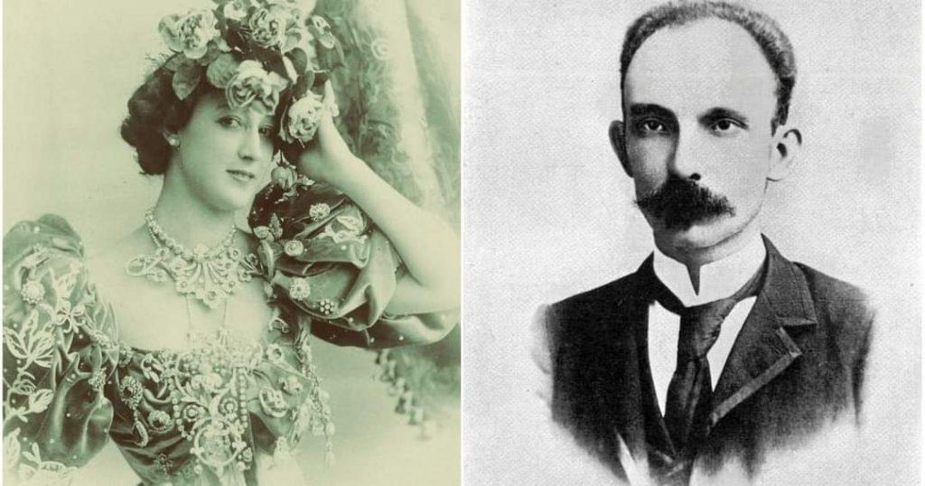 Jose Marti y la bailarina espanola