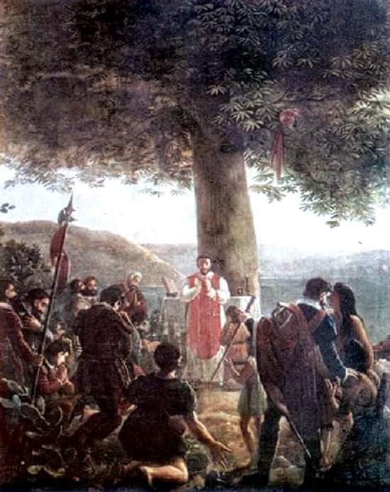 La primera misa bajo la ceiba memorable Juan Bautista vermay