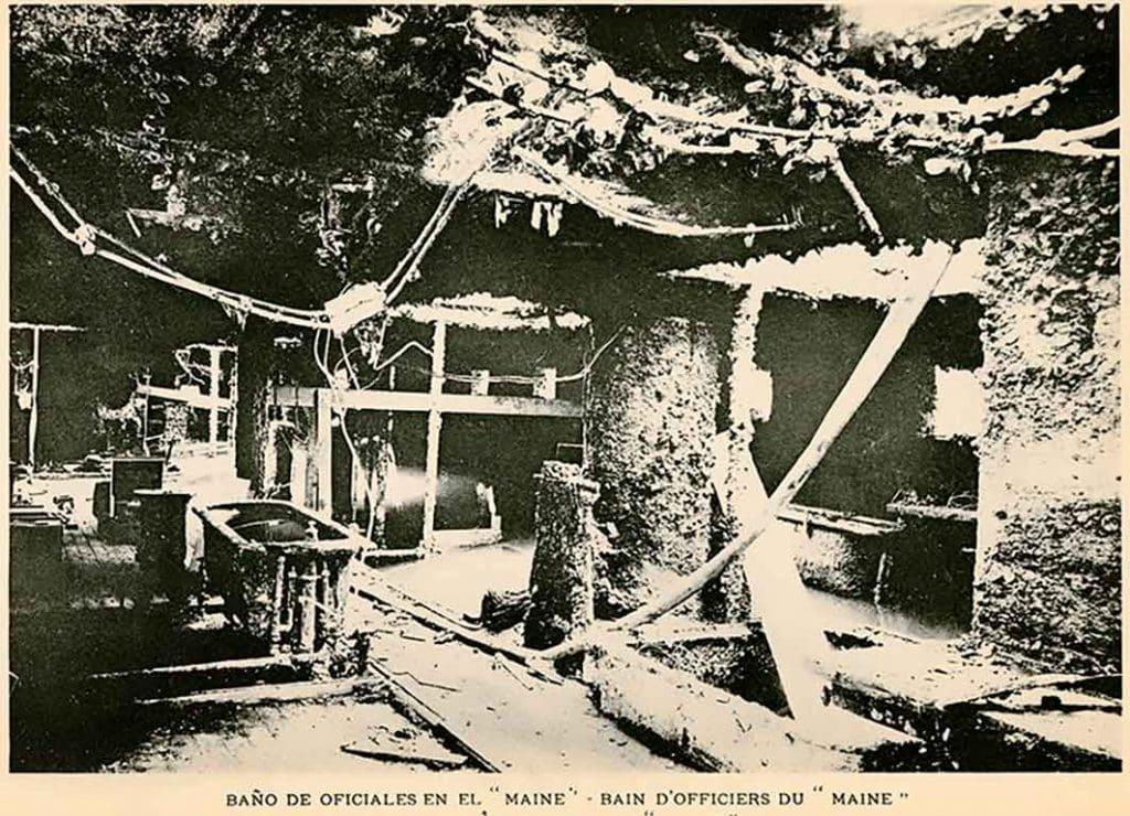Restos del U.S.S Maine, imagen del interior 1912