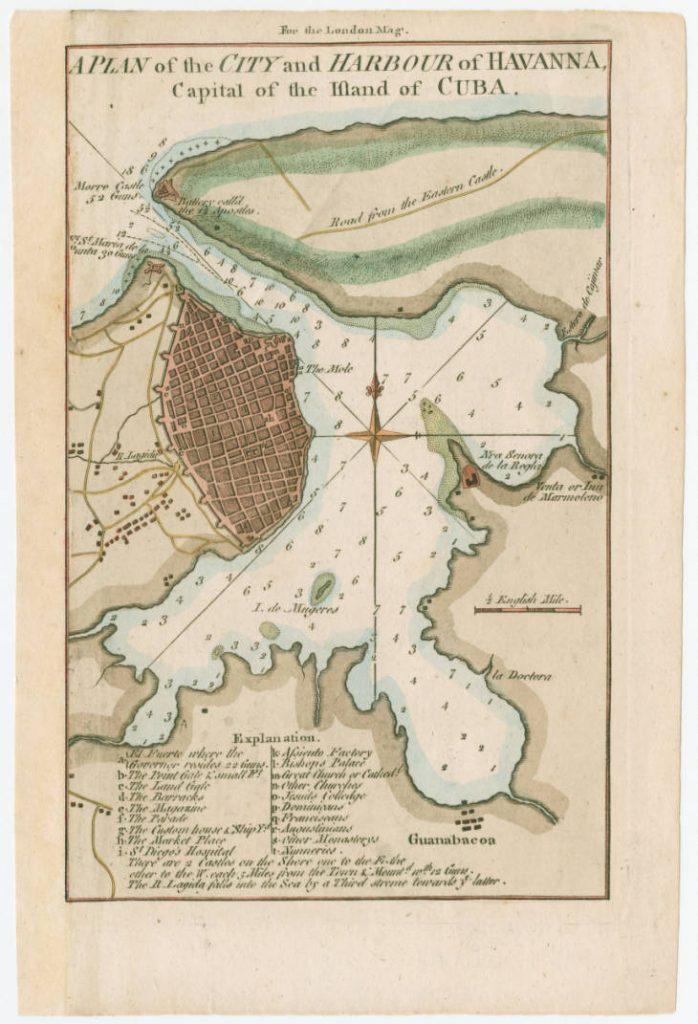 el primer asentamiento: Mapa Bahía Habana