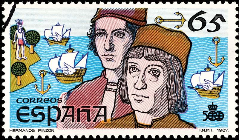 Martin Alonso Pinzon Vicente Yanez Spanish postage 1987