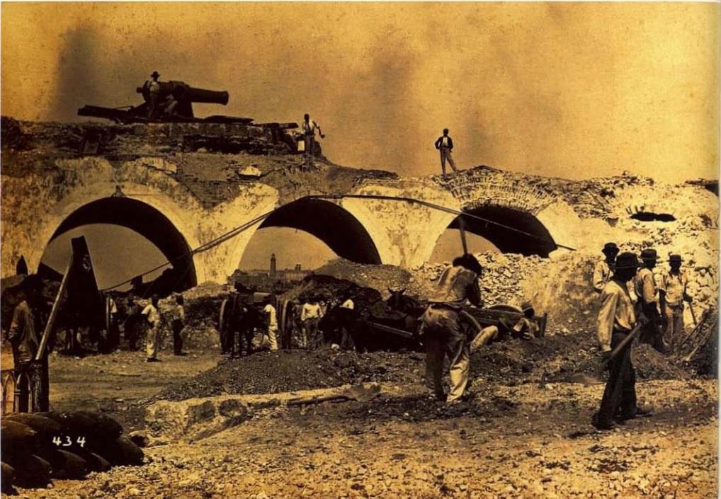 Habana Colonial. Derribo de muralla frente a San Telmo 1890