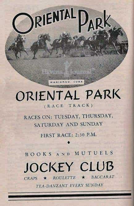 Oriental Park, Hipódromo de Marianao, Cartel