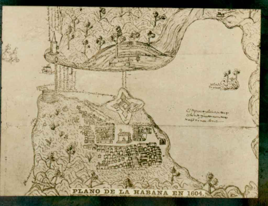 Plano de la habana 1604