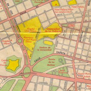 Quinta de los Molinos. Habana. Plano 1956.