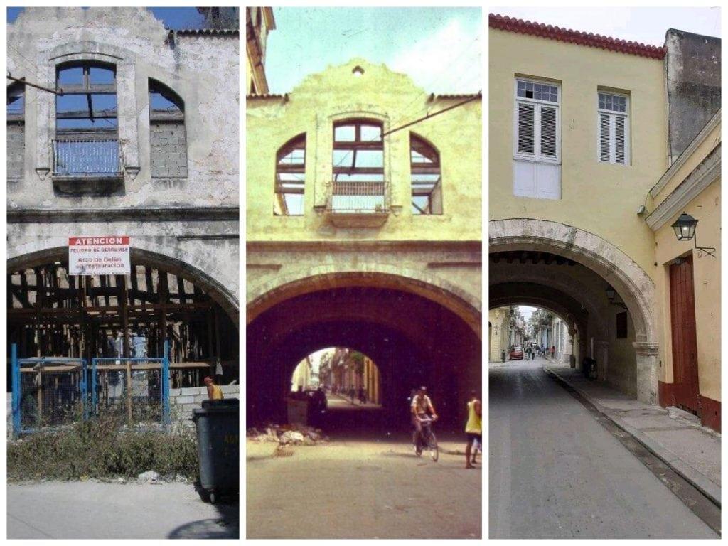 Restauración del Arco de Belén en la calle Acosta