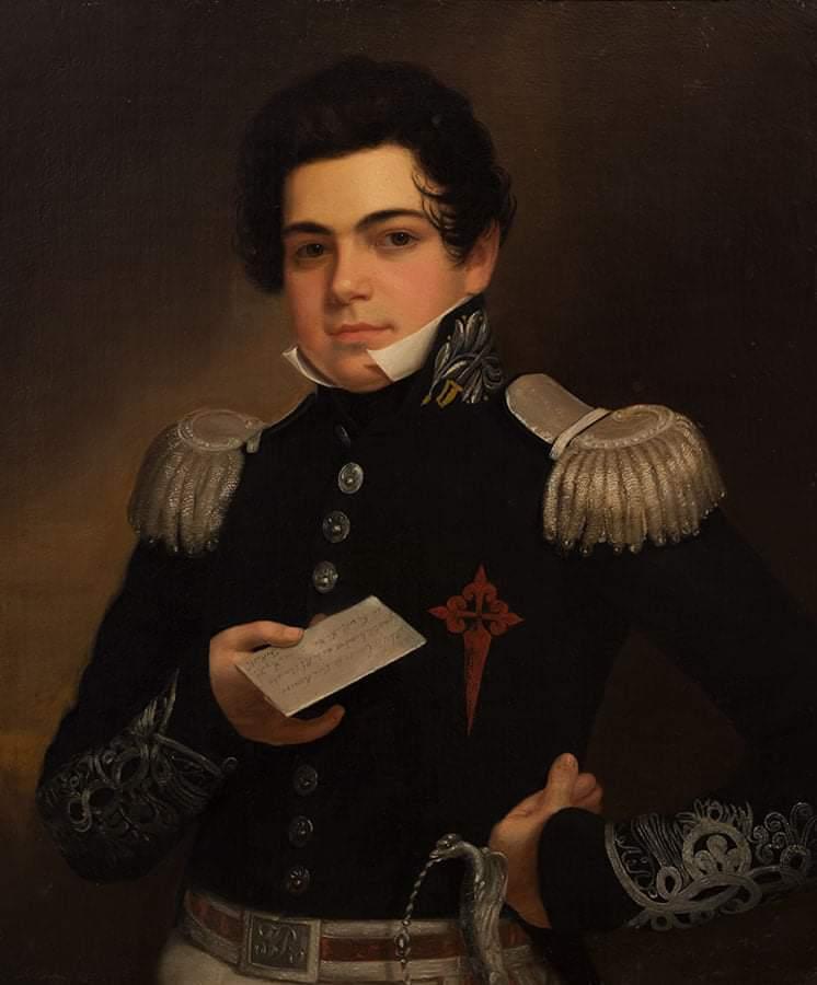 Retrato del Capitán Felipe Fernández - Romero y Núñez de Villavicencio y Jura Real (1832) por Eliab Metcalf