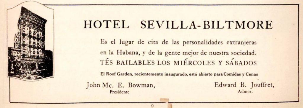 Sevilla biltmore publicidad