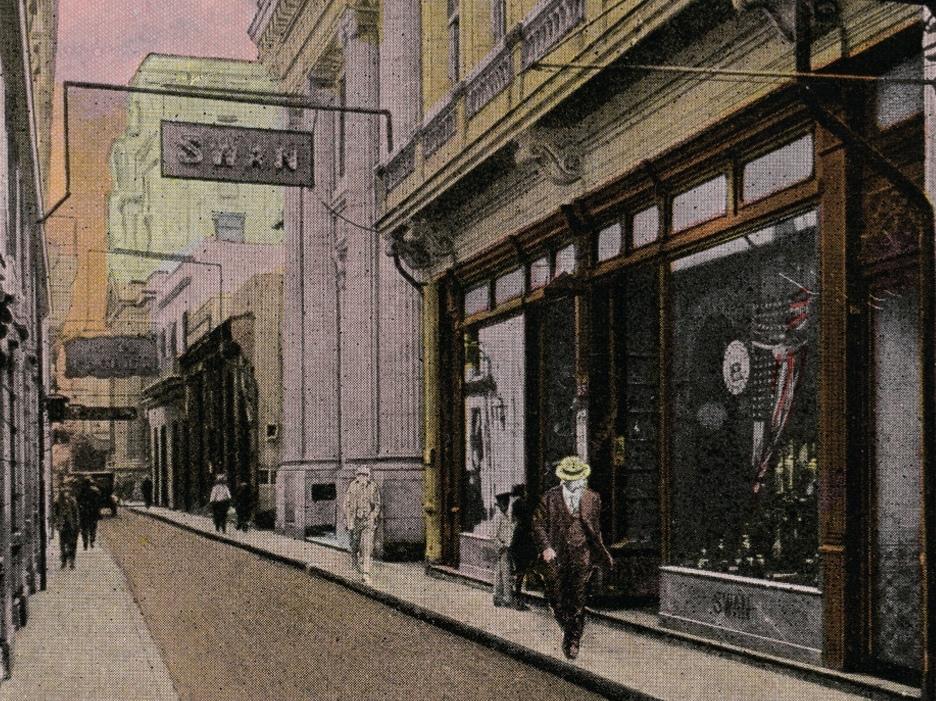 calle Obispo la Habana postal antigua