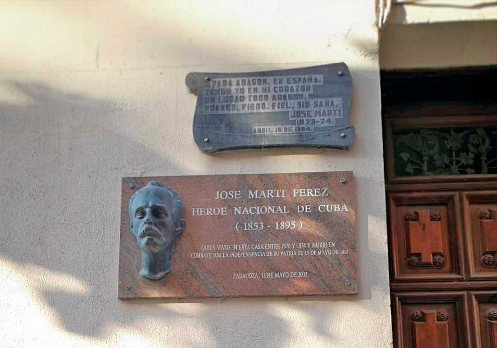 Casa de José Martí en Zaragoza