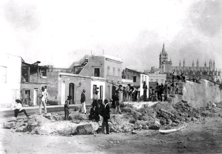 Derribo de las murallas de La Habana - Iglesia del Santo Ángel