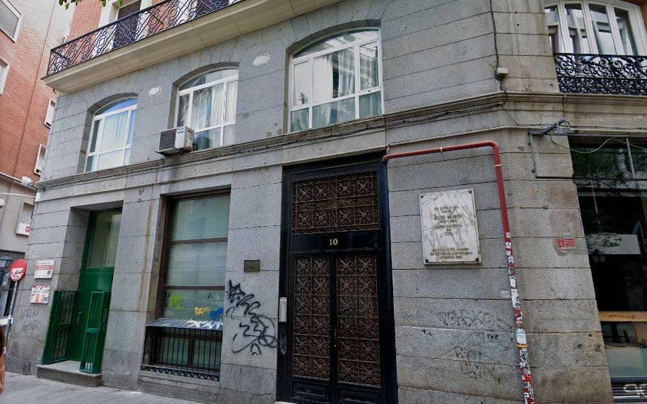 Edificio ubicado donde vivió José Martí en Madrid, calle Desengaño 10