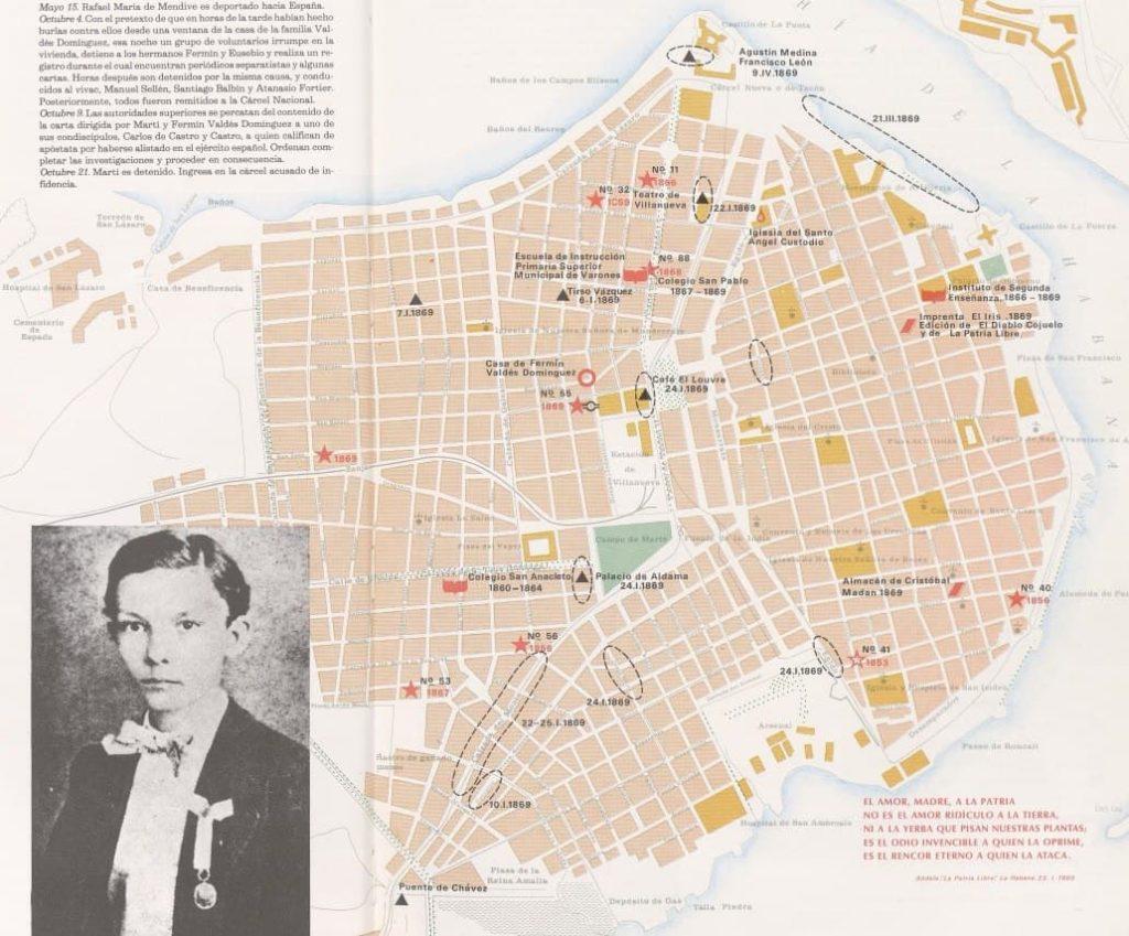 Itinerario de casas de Martí
