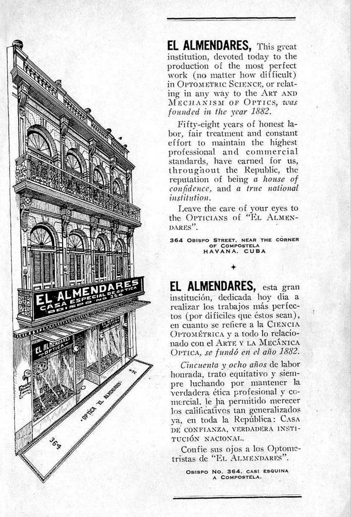 optica el Almendares calle Obispo la habana