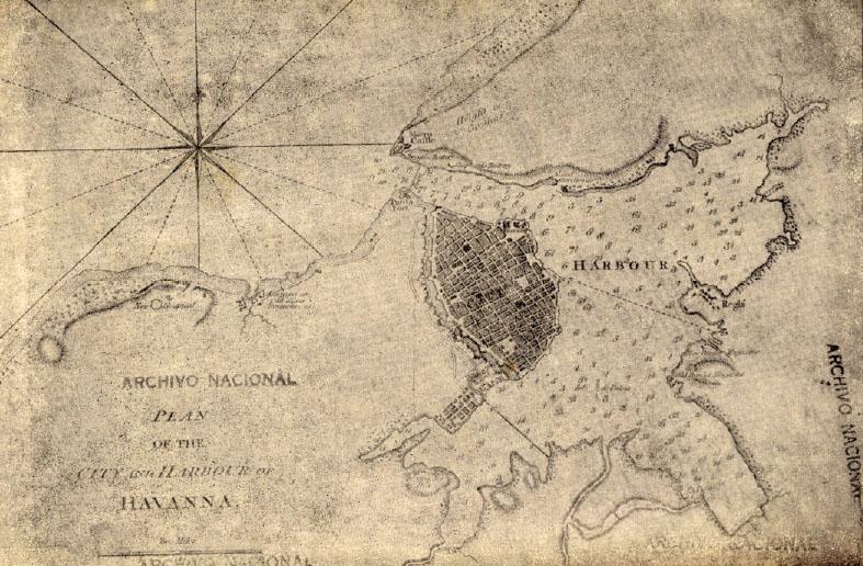 Plano de La Habana donde aparece el barrio Jesús del Monte