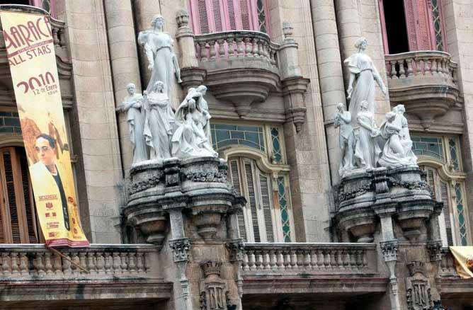 Centro Gallego de La Habana detalle exterior